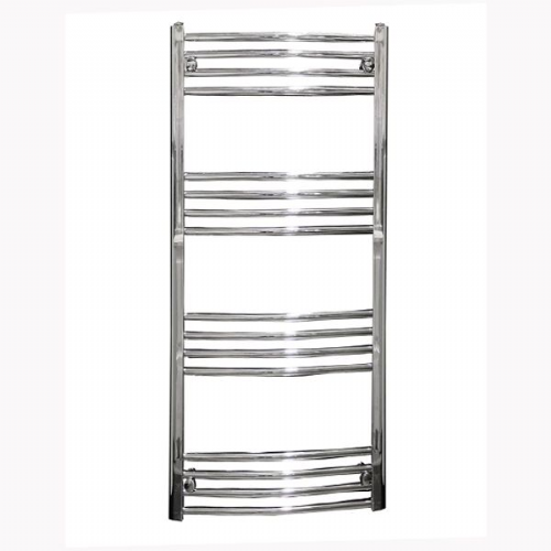 Reina Capo Curved Thermostatic Electric Towel Rail - 800mm x 600mm - Chrome